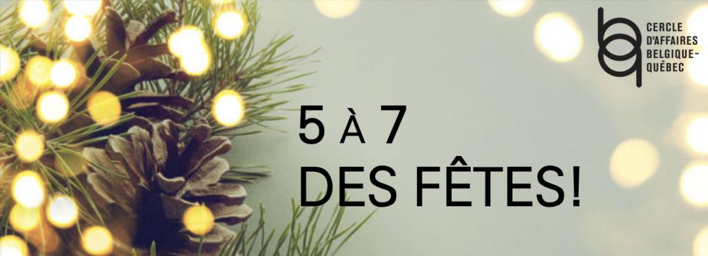 19 décembre : 5@7 des fêtes!