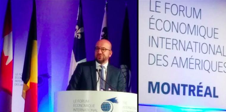 Le PM belge en visite au Canada
