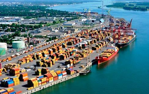 Visite du port de Montréal